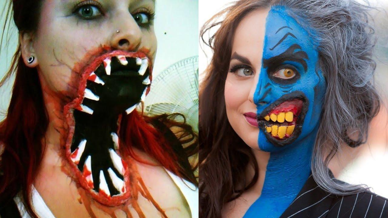 Рисунок на лице на хэллоуин видео 63